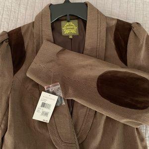 NWT Brown pinstripe blazer